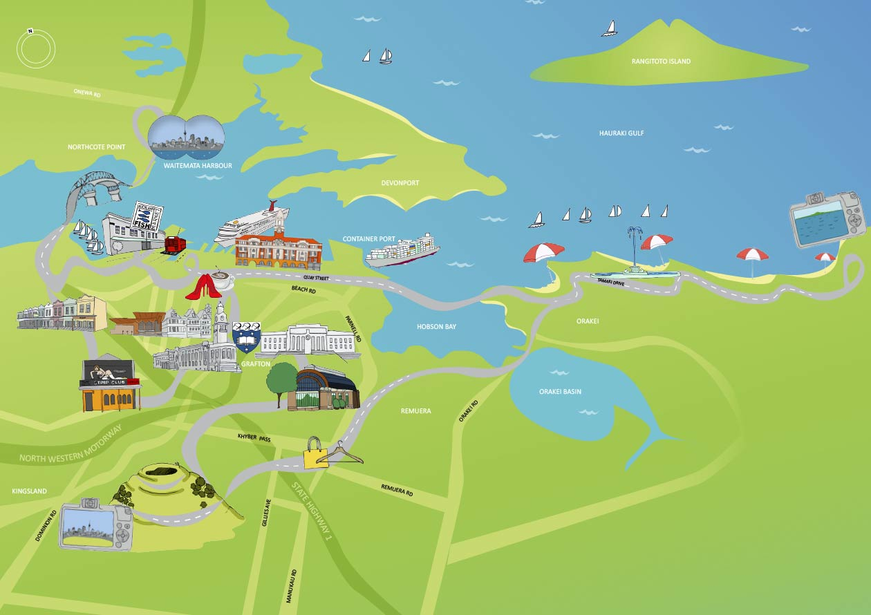 New Zealand Sightseeing Map.Discover Auckland Tour Map Auckland City Tours Tours Of Auckland